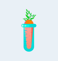 Genetic engineering gmo carrot in test tube vector