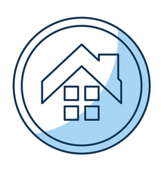 House exterior seal isolated icon vector