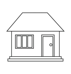 house home family residential outline vector image vector image