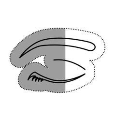 Isolated female eye design vector