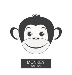 Label with a monkey vector image