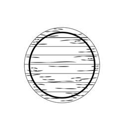 Line wood emblem element to decoration design vector