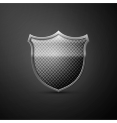 Metal shield icon vector image