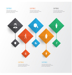 person icons set collection of jogging male vector image vector image