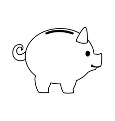 piggy banking concept safe money icon vector image vector image