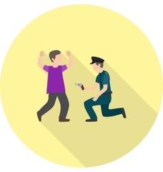 Police Arresting Man vector image