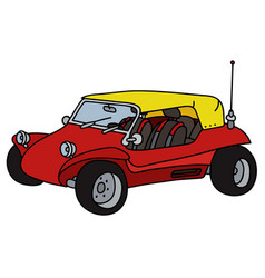 red dune buggy vector image