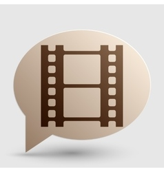 Reel of film sign Brown gradient icon on bubble vector image vector image