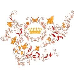 Rococo style ornament vector image