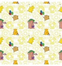 Seamless cartoon toy animals vector image vector image