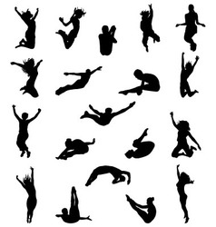 silhouette of jumping vector image vector image