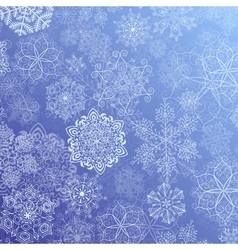 Snowy flow vector image