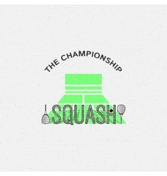 Squash badges logos and labels for any use vector image vector image