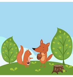 Summer forest background vector image vector image