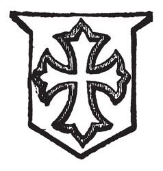 Voided cross having the inner part cut away vector