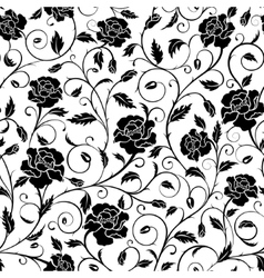 Seamless pattern poppies vector