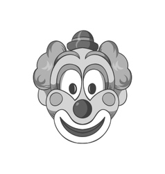 Head clown icon black monochrome style vector