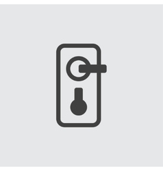 Door handle icon vector