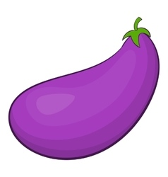 Eggplant fruit icon cartoon style vector