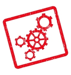 Mechanism icon rubber stamp vector