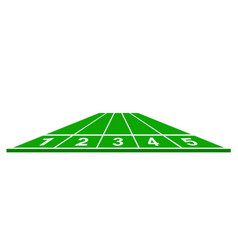 Running track in green design vector
