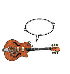 electric guitar-100 vector image