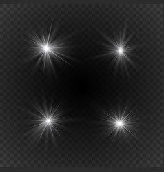 Light effects of sparkling stars vector