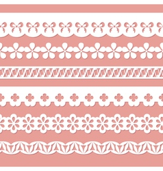 White seamless paper laces vector