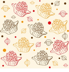 Pattern with chocolates vector
