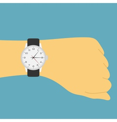 Hand watch vector