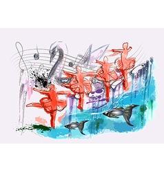 Ballet swan lake vector