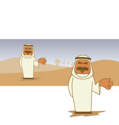 Arab cartoon character vector