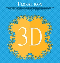 3d sign icon 3d-new technology symbol floral flat vector