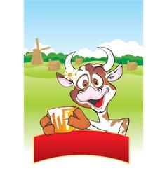 Farm cow vector