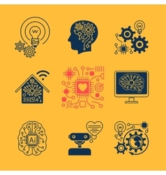 New technologies icons vector