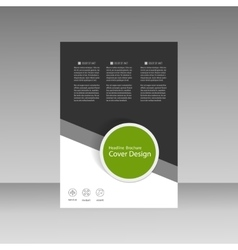 Brochure business style cover template vector