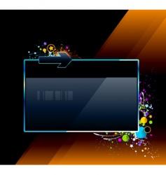 splash glossy banner vector image
