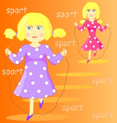 a cartoon girl vector image vector image