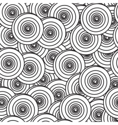 abstract background with spiral circles vector image vector image