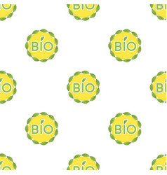 Bio label icon in cartoon style isolated on white vector