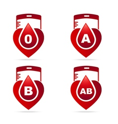 Blood typecreative blood groups showing in a vector