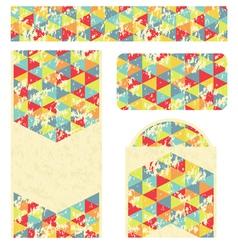 Branding design with retro triangles pattern vector