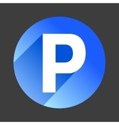 Car parking flat icon sign symbol logo vector image vector image