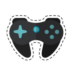 Cartoon gamepad control console concept vector