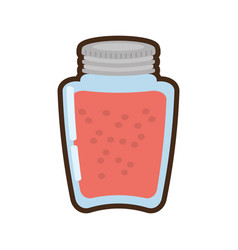 cartoon glass jar juice vector image