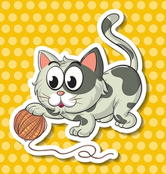 Cat and string vector image