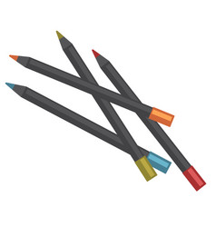 color pencils of black wood lay in mess vector image vector image