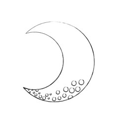 Cute moon isolated icon vector