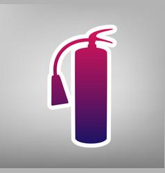 Fire extinguisher sign purple gradient vector