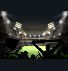 green football field vector image